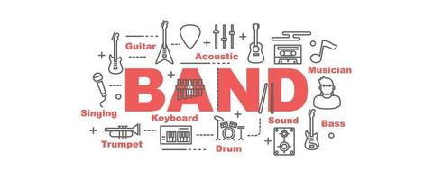 band vector banner