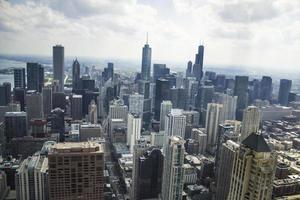 Chicago, Illinois 2016- Chicago skyline from John Hancock Tower photo