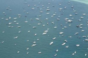 Yachts on Lake Michigan photo