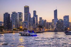 Chicago, Illinois 2016- Downtown at Twilight Architectural Cruise tour photo