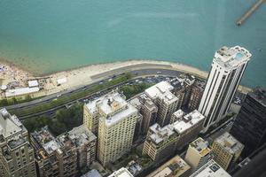 Chicago, Illinois 2016- horizonte de Chicago desde la torre john hancock foto