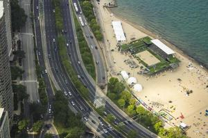 Chicago, Illinois 2016- Lake shore drive from John Hancock Tower photo