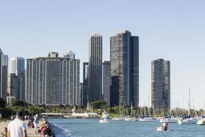 Chicago, Illinois 2016- Chicago skyline - lakeshore photo