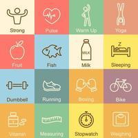 healthy outline design vector