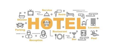 banner de vector de hotel