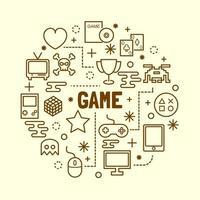 juego mínimo conjunto de iconos de línea fina vector