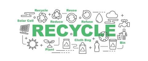 reciclar vector banner