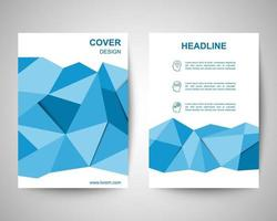 blue polygon flyer a4 template