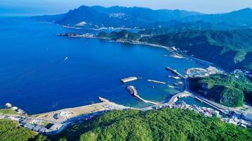 Taiwan 2018- Aerial view of northeast corner of Taiwan photo