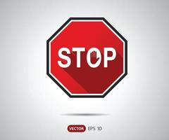 Traffic Stop Sign Icon, logo vector illustration