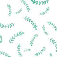 patrón de hojas verdes tropicales aisladas sobre fondo blanco. elementos de diseño floral. invitaciones de boda, tarjetas de felicitación, blogs, carteles. vector - ilustración