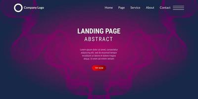Abstract background website Landing Page wavy lines with pink gradient vector