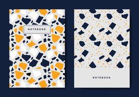 terrazo plantillas de portada abstracta. diseños abstractos universales. aplicable para cuadernos, planificadores, folletos, libros, catálogos