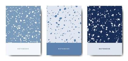 terrazo plantillas de portada abstracta. diseños abstractos universales. aplicable para cuadernos, planificadores, folletos, libros, catálogos vector