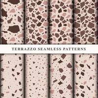 conjunto de patrones de terrazo vector