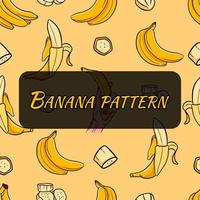 Pattern on tropical fruits. Seamless pattern for printing. vector