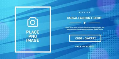 Modern blue template banner promotional website and social media vector