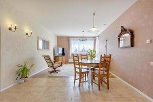 Living room, wide angle view photo