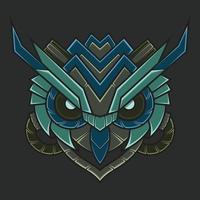 Abstract Colorful Ornament Doodle Mecha Robot Owl Zentangle Art Illustration Cartoon Concept Vector. Suitable For Wallpaper, Banner, Background, Card, Book Illustration, T-Shirt Design, Sticker, etc vector