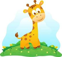lindo bebé jirafa, lindo animalito vector