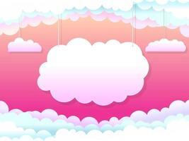 Hanging Clouds Fantasy Landing Page Design