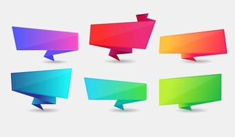 Colorful Speech Bubble Set, Text Box Pop up Design Set vector