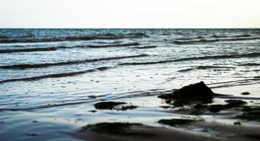 agua azul del océano foto