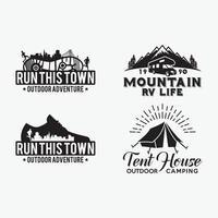 Adventure Badges and Logos, vector design templates