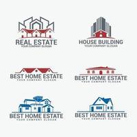 Real Estate Badges Logo Design Set vector