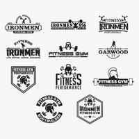 Fitness Badges Logos vector design templates set
