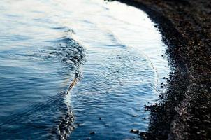 Reflection of sunlight on waves photo