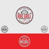 BBQ Grill Logo Design Vector Template
