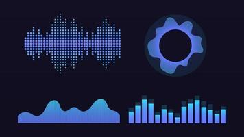 Wave of sound, virtual graphic equalizer, vector illustration