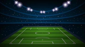 Estadio de arena de campo de fútbol vacío, ilustración vectorial vector