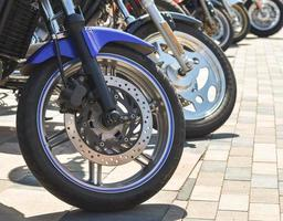 primer plano, de, motos, motos foto