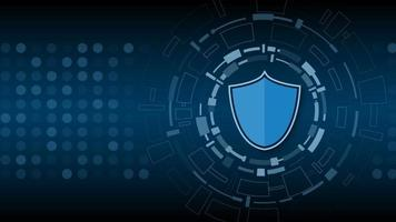 seguridad de la tecnología cibernética, diseño de fondo de protección de red, ilustración vectorial vector