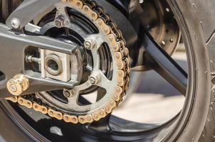 Gears on a motorcycle