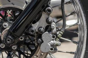 Close-up of gears of a motorcycle