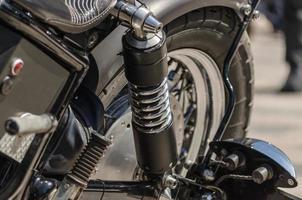 chocadores en motocicleta foto