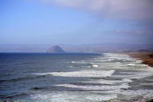 View of Morro Rock on the coast of California photo