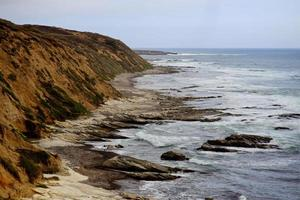 Cliffs on the central coast of California photo