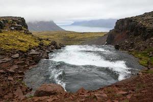Tide pool on an Icelandic fjord