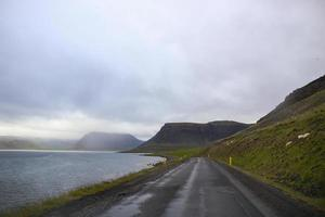 Open Ring Road in Iceland photo