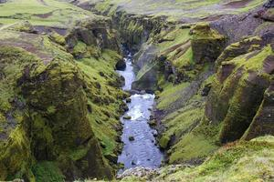 View from the top of a cliff in Iceland photo