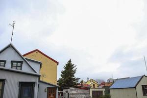 casas en akureyri, islandia foto