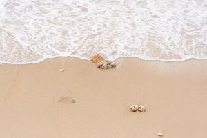 Soft waves on the beach photo