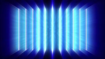 Parallel Pulsing Blue Laser Ray Lines Casting a Blue Light