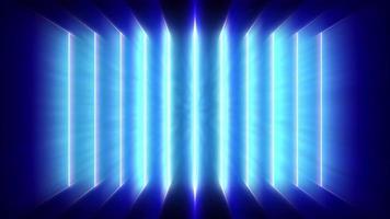 linhas de raios laser azuis pulsantes paralelas lançando uma luz azul