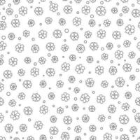 Cute hand drawn small flowers seamless pattern vector