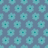 Cute floral pattern in the small flower vector